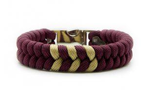 gold-burgundy-paracord-550-bracciale-intarsi