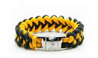 black-goldenrod-paracord-550-bracciale-xark